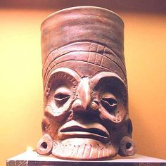 Toltec Vessel with Mask 900-1150 AD