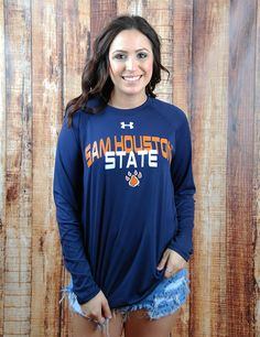 Stay active and warm in this new Sam Houston State University Under Armour active top! What is better than SHSU Performance wear?