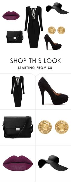 """black"" by emstyles-1 on Polyvore featuring Aspinal of London and Versace"