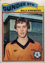 Billy Kirkwood of Dundee Utd in 1980.