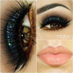 Glittery look