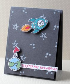 "Paper Smooches - Stempelset 4x6"" - Space Cadet"