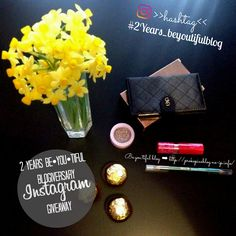 ↞ 2 Years Be•YOU•tiful Blogiversary – Instagram GiveawaY ↠ Instagram Giveaway, Wallet, Giveaways, Instagram Posts, Blog, Handmade Purses, Blogging, Purses, Diy Wallet