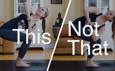 Do This, Not That: 5 Poses Everyone Does Wrong & How To Fix Them (with pictures!) I need to keep these in mind because I'm sure I get lazy or when I'm tired in revolving chair and do It wrong...
