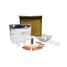Uco Stormproof Survival Kit. Start je 10 essentials survival kit met de Stormproof Survival Kit! Vuur maken, koken en onderdak allemaal in een compacte tas.