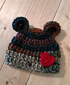 Hey, I found this really awesome Etsy listing at https://www.etsy.com/listing/89011549/camo-teddy-bear-beanie-many-sizes