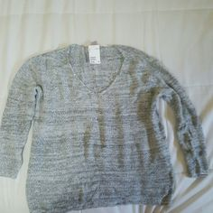 H&M sweater NWT Grey marled sweater. Size large. H&M Sweaters