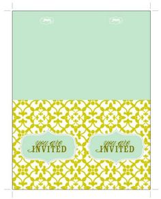 Free Mint & Lime Invites [create] | ballarddesigns.com