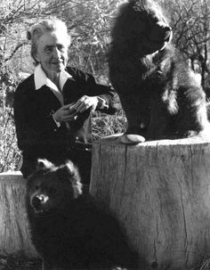O'Keeffe with her chow chow dogs, Abiquiu House 1962 by Todd Webb
