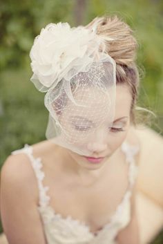 Vintage inspired wedding veils and headpieces - Blush by Silver Sixpence In Her Shoe