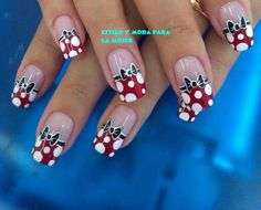 Find images and videos about nails, nail art and unhas on We Heart It - the app to get lost in what you love. Get Nails, Fancy Nails, Trendy Nails, Mickey Nails, Minnie Mouse Nails, Mickey Mouse, Image Nails, Finger Nail Art, Acrylic Nail Art