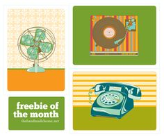 freebie of the month : vintage printables | the handmade home