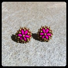 Stud earrings!!! Collection Fall 14! Beading Needles, Fall 14, Handmade Jewellery, Needle And Thread, Stud Earrings, Beads, Collection, Jewelry, Beading