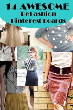 Top #Refashion Pinterest Boards to Follow - BrassyApple.com #sewing #clothes #thrift