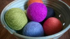 #Earth Day Tutorial  -Save energy with #felted wool dryer balls!