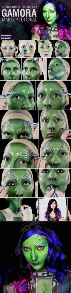 Guardians of the Galaxy Vol. 2 is finally here! We're just as excited as you, and this Gamora makeup tutorial will help prove it. Show your love for Star-Lord, Groot, and the gang with this awesome makeup video! #GotG
