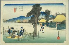 Hiroshige - The Fifty-three Stations of the Tōkaidō 50th station : Minakuchi