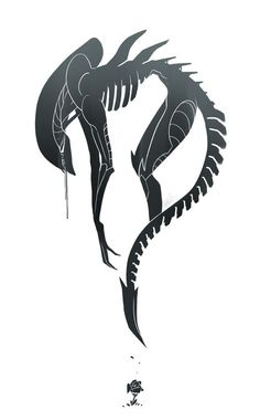 *Xenomorph(Alien) tattoo! Love this so bad. I just don't know where I'd put it!*