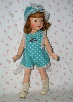 1930s Effanbee Dewees Cochrane AMERICAN CHILDREN Doll in Trunk