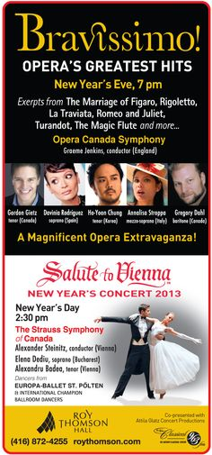 New Year's Eve and New Year's Day Concerts