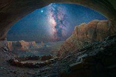 La Vía Láctea desde una gruta en Utah