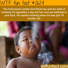Ardi Rizal, the toddler who smokes 40 cigarettes a day -WTF funfacts