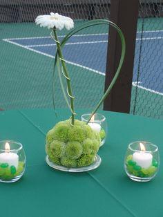 Tennis centerpieces | Tennis themed party centerpiece | Tennis