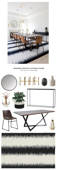 Copy Cat Chic Room Redo | Modern Graphic Dining Room