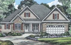The Fieldstone House Plan Images - See Photos of Don Gardner House Plans (2844/1047F)