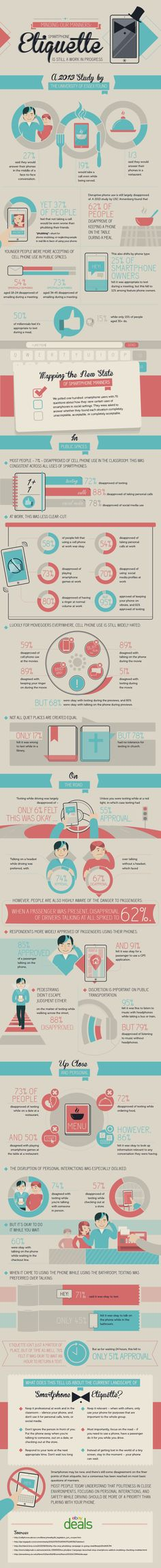 Smartphone etiquette #infografia #infographic
