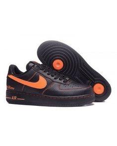 hot sale online cf700 53648 Vlone X Nikelab Air Force 1 Low Black Orange on We Heart It