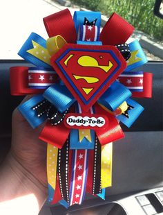 Monsters inc, lion king or superhero matching boutonniere Superman Baby Shower, Marvel Baby Shower, Baby Marvel, Superhero Baby Shower, Baby Shower Niño, Baby Shower Gender Reveal, Baby Shower Games, Baby Shower Parties, Baby Showers