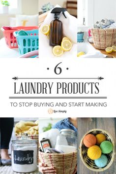 Laundry Products to Stop Buying and Start Making. With just a few basic ingredients, natural laundry products can be made at home.