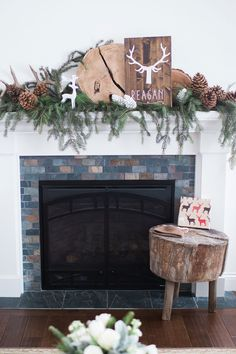 Fireplace Mantel Decor from Vintage Little Deer Birthday Party by Cherry Blossom Events Boys First Birthday Party Ideas, Twin First Birthday, Wild One Birthday Party, 10th Birthday Parties, Birthday Party Themes, First Birthdays, Woodland, Wrens, Winter Decorations