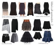 kibbe's soft gamine.skirts-2 … More