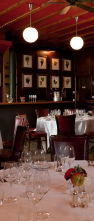 French brasserie Restaurant, central London. Main course cost £15.00 - £20.00