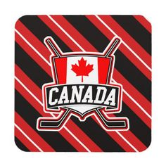 Canadian Hockey Logo Cork Coasters