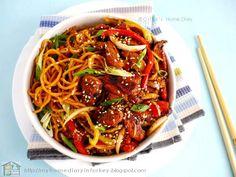 Citra's Home Diary: Chicken/ beef teriyaki noodle bowl with homemade teriyaki…