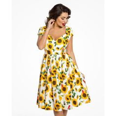 1b7776efc5a Sunflower Print Swing Dress - Charlene