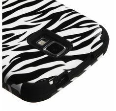 SAMSUNG i537 (Galaxy S4 Active) Zebra Skin Black TUFF Hybrid Phone Protector Cover