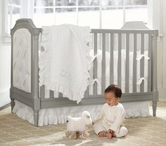 We're in love with the Blythe Crib. #potterybarnkids #spring2014