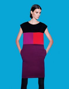 """Colorblocking creates structure. Narciso Rodriguez for DesigNation #Kohls"" ...if by structure you mean a box. Go home Kohl's, you are drunk."