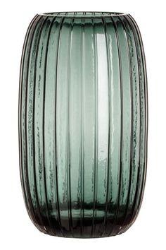 Grand vase en verre - Vert - Home All Find Furniture, Home Decor Furniture, Africa Decor, Tall Glass Vases, Pot Lights, H&m Home, Bottle Art, House In The Woods, Decor Interior Design