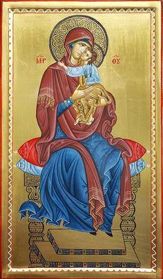 ΜΡ.ΘΥ.__Παναγια Ενθρονη (Zoran Zivkovic Byzantine Icons, Byzantine Art, Art Icon, Icon 5, Religious Icons, Religious Art, Monastery Icons, Greek Icons, Russian Icons