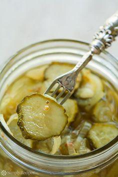 Bread N Butter Pickle Recipe, Bread & Butter Pickles, Antipasto, Homemade Pickles, Pickles Recipe, Canning Pickles, Simply Recipes, Canning Recipes, Vegan