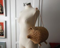 60s bag / Pass the Pig Vintage 1960's by Planetclairevintage