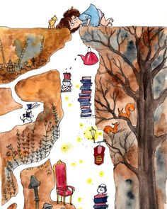 Kawaii Drawings, Doodle Drawings, Doodle Art, Cute Drawings, Illustrations, Illustration Art, Watercolor Beginner, Diy Canvas Art, Art Journal Inspiration