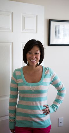 Stitch Fix Review » Table for Two. Love the sweater but not how low cut it is.