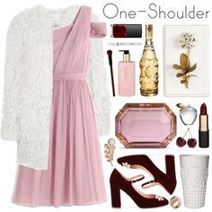 party style: one-shoulder dress by jesuisunlapin on Polyvore featuring polyvore, fashion, style, J.Crew, Étoile Isabel Marant, Kate Spade, Charlotte Olympia, Orla Kiely, Kattri and Mimco