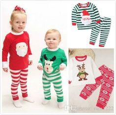 6aeba927e0 2017 Christmas Xmas Pajamas Sleepwear Clothing Children Night Wear Kids  Sleep Clothes Suits Boys Girls Cotton Pajamas Outfits Clothing Sets